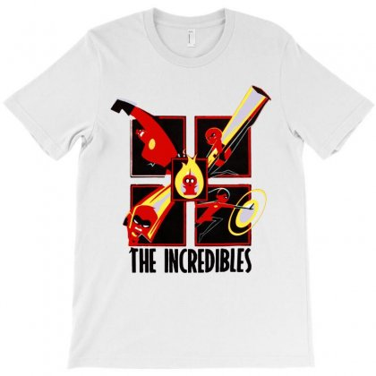 The Incredibles Retro Grid T-shirt Designed By Colorfull Art