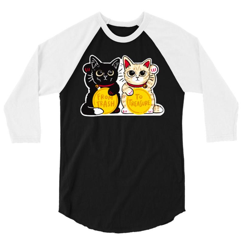 Lucky Rescue Cats 3/4 Sleeve Shirt   Artistshot