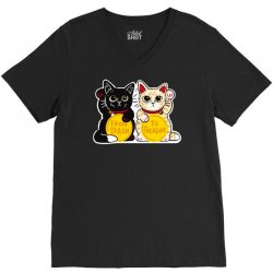 lucky rescue cats V-Neck Tee | Artistshot