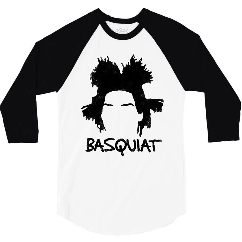 Basquiat Jean Michel For Light 3/4 Sleeve Shirt | Artistshot
