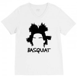 basquiat jean michel for light V-Neck Tee | Artistshot