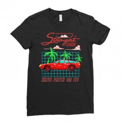 straight road Ladies Fitted T-Shirt | Artistshot