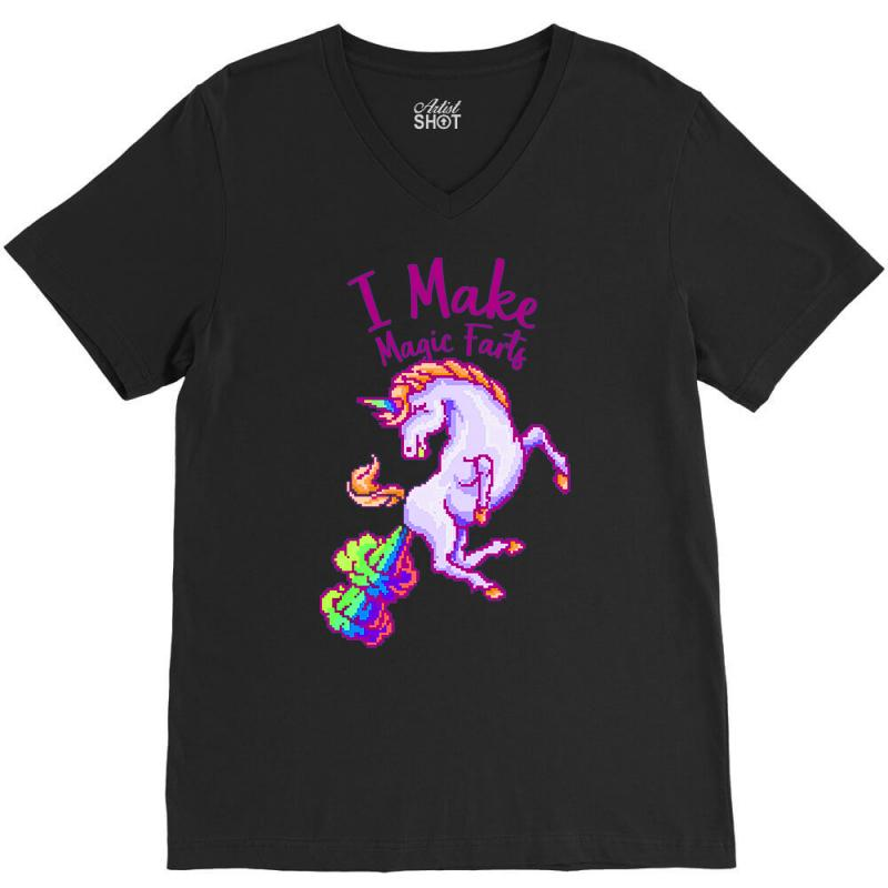 I Make Magic Farts V-neck Tee | Artistshot