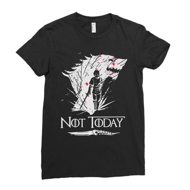 Not Today Ladies Fitted T-shirt | Artistshot