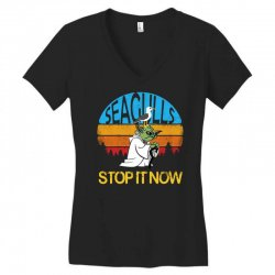 retro vintage seagulls stop it now Women's V-Neck T-Shirt | Artistshot