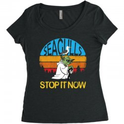 retro vintage seagulls stop it now Women's Triblend Scoop T-shirt | Artistshot