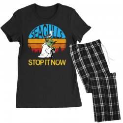 retro vintage seagulls stop it now Women's Pajamas Set | Artistshot