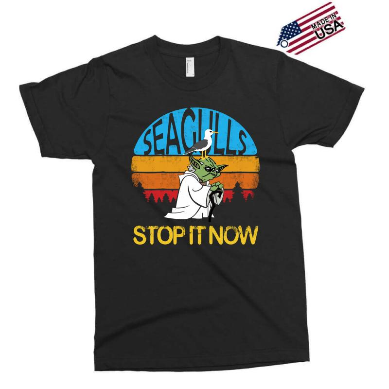 Retro Vintage Seagulls Stop It Now Exclusive T-shirt | Artistshot