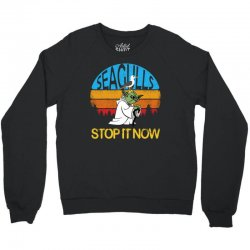 retro vintage seagulls stop it now Crewneck Sweatshirt | Artistshot