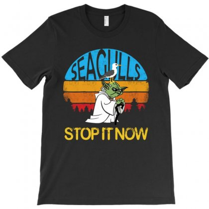 Retro Vintage Seagulls Stop It Now T-shirt Designed By Colorfull Art