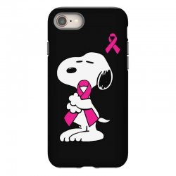 snoopy   support breast cancer iPhone 8 Case | Artistshot