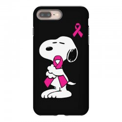 snoopy   support breast cancer iPhone 8 Plus Case | Artistshot
