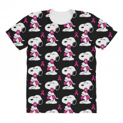snoopy   support breast cancer All Over Women's T-shirt | Artistshot