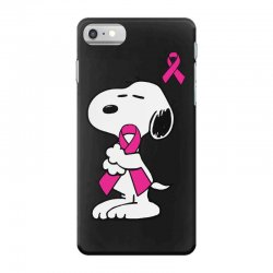 snoopy   support breast cancer iPhone 7 Case | Artistshot