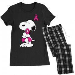 snoopy   support breast cancer Women's Pajamas Set | Artistshot