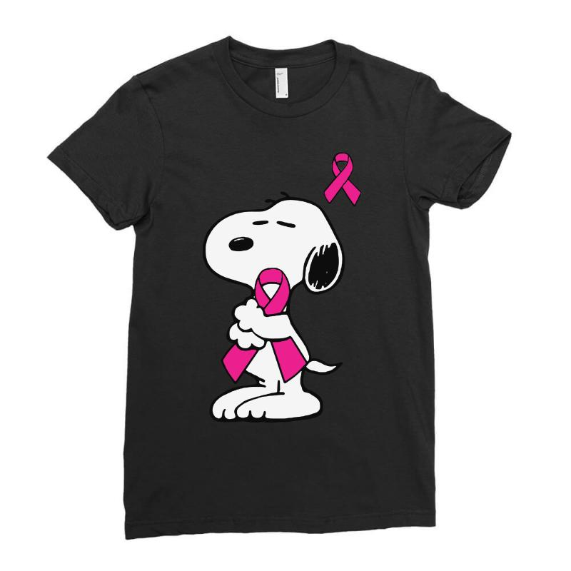 Snoopy   Support Breast Cancer Ladies Fitted T-shirt | Artistshot