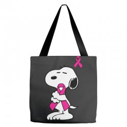 snoopy   support breast cancer Tote Bags | Artistshot