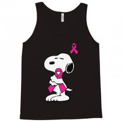 snoopy   support breast cancer Tank Top | Artistshot