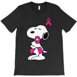 snoopy   support breast cancer T-Shirt | Artistshot