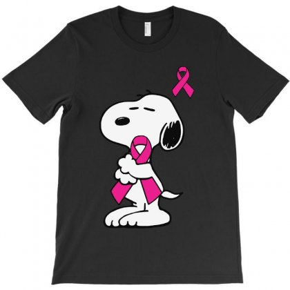 Snoopy   Support Breast Cancer T-shirt Designed By Colorfull Art