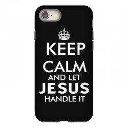 keep calm and let jesus handle it   white iPhone 8 Case | Artistshot