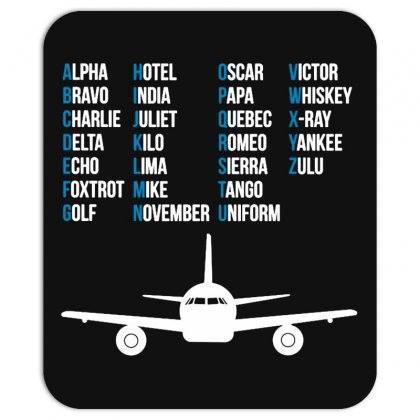 Pilot Phonetic Alphabet Merch Mousepad Designed By Willo