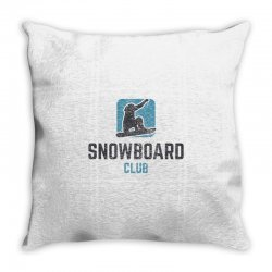 Snowboard Throw Pillow | Artistshot
