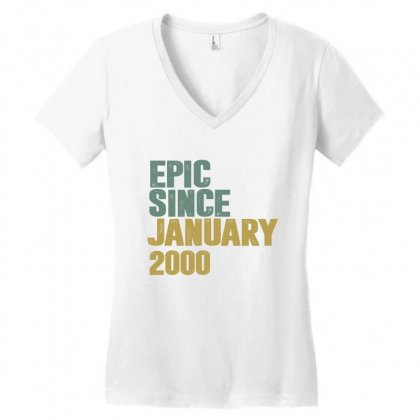 January 2000 Women's V-neck T-shirt Designed By Chris Ceconello
