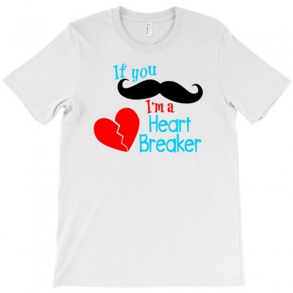 Mustache Heartbreaker T-shirt Designed By Ursulart