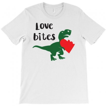 Love Bites Dino T-shirt Designed By Ursulart