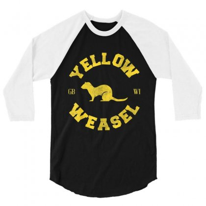 Yellow Weasel 3/4 Sleeve Shirt Designed By Kakashop