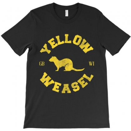 Yellow Weasel T-shirt Designed By Kakashop