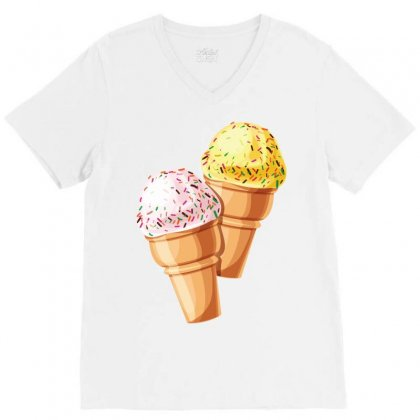 Ice Cream V-neck Tee Designed By Danz Blackbirdz