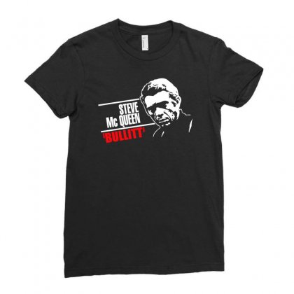 Steve Mc Queen Ladies Fitted T-shirt Designed By Erni