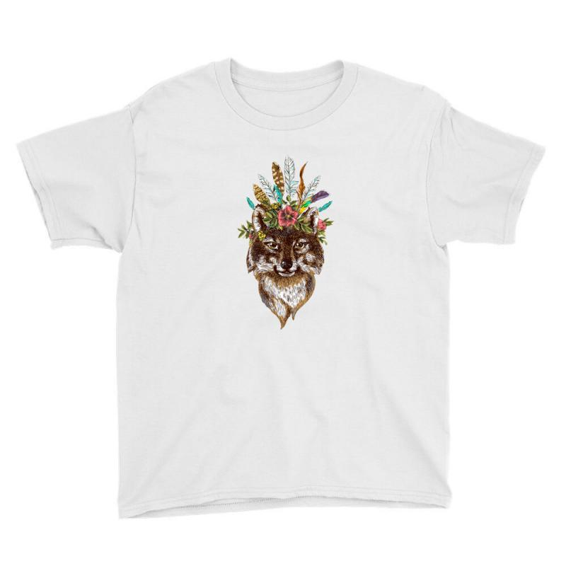 Bohemian Wolf  Wild And Free Youth Tee | Artistshot