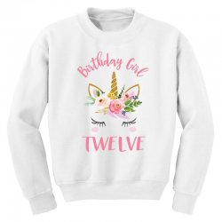 12th birthday unicorn shirts for girls Youth Sweatshirt | Artistshot