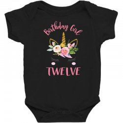 12th birthday unicorn shirts for girls Baby Bodysuit | Artistshot