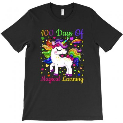 Adorable 100th Day Of School Unicorn Magical Learning Tshirt T-shirt Designed By Ursulart