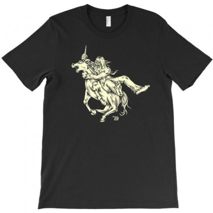Ames Bros Bigfoot Vs Unicorn T Shirt T-shirt Designed By Ursulart