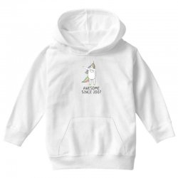 Awesome since 2007 cute unicorn  birthday t shirt Youth Hoodie | Artistshot