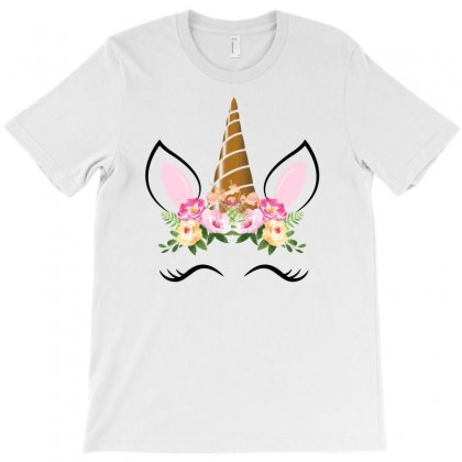 Bohemian Unicorn Tshirt Magical Cute Boho Unicorn Face T-shirt Designed By Ursulart