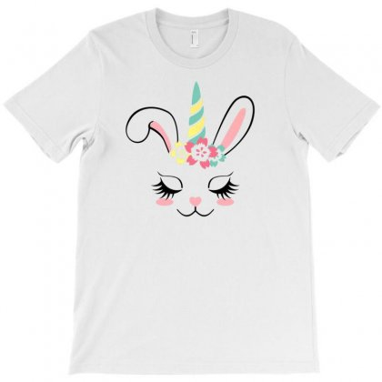 Bunnycorn Easter Bunny Rabbit Face Unicorn Kids T Shirt Gift T-shirt Designed By Ursulart