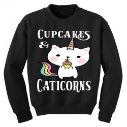Caticorn cat unicorn shirt cupcakes & caticorns rainbow tee Youth Sweatshirt | Artistshot