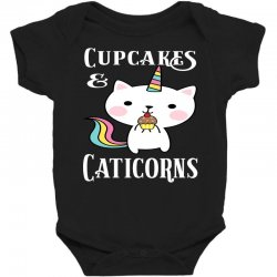Caticorn cat unicorn shirt cupcakes & caticorns rainbow tee Baby Bodysuit | Artistshot