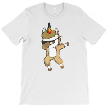 Cool Dabbing Llamacorn Dab Sunglasses Llama Unicorn T Shirt T-shirt Designed By Ursulart