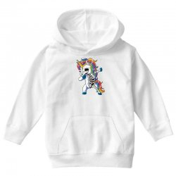 Dabbing unicorn skeleton t shirt halloween girls dab gifts Youth Hoodie | Artistshot