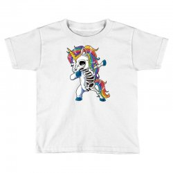 Dabbing unicorn skeleton t shirt halloween girls dab gifts Toddler T-shirt | Artistshot