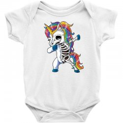 Dabbing unicorn skeleton t shirt halloween girls dab gifts Baby Bodysuit | Artistshot