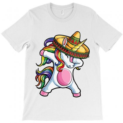 Dabbing Unicorn T Shirt Cinco De Mayo Rainbow Sombrero Kids T-shirt Designed By Ursulart
