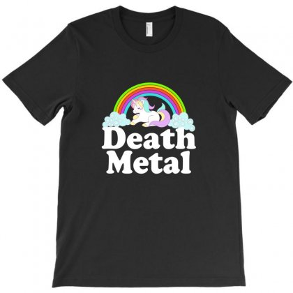 Death Metal Rainbow Unicorn Alternative Rock Music Shirt T-shirt Designed By Ursulart